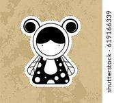 cartoon cute monsters. | Shutterstock . vector #619166339