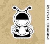 cartoon cute monsters. | Shutterstock . vector #619166435