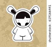 cartoon cute monsters. | Shutterstock . vector #619166441