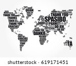 thank you in many languages... | Shutterstock .eps vector #619171451
