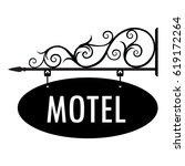 vector illustration motel... | Shutterstock .eps vector #619172264