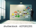 Businessman Drawing Colorful...