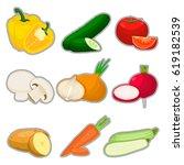 vector illustration logo... | Shutterstock .eps vector #619182539