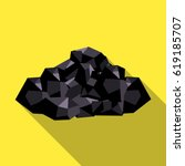 black minerals from the mine... | Shutterstock . vector #619185707