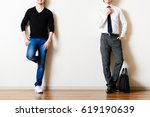 businessman and casual style man | Shutterstock . vector #619190639