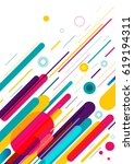 abstract style pattern with... | Shutterstock .eps vector #619194311