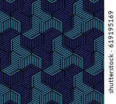 blue and black geometric... | Shutterstock .eps vector #619195169