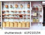display of the varied... | Shutterstock . vector #619210154