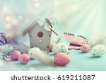 Easter Decoration. Easter Eggs...
