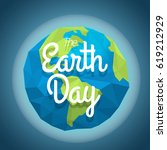 the earth day concept. vector... | Shutterstock .eps vector #619212929