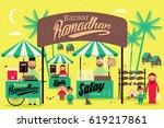ramadan bazaar template vector... | Shutterstock .eps vector #619217861