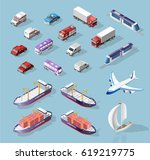 collection of realistic... | Shutterstock .eps vector #619219775