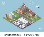 set of isolated high quality... | Shutterstock .eps vector #619219781