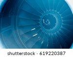 Close Up On A Huge Jet Engine...