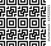 vector seamless pattern.... | Shutterstock .eps vector #619223321
