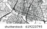 urban vector city map of austin ... | Shutterstock .eps vector #619223795