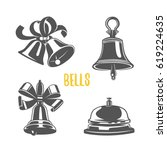 set of bells  illustration.... | Shutterstock .eps vector #619224635