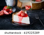cheesecake with fresh... | Shutterstock . vector #619225289