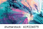 bright color fireworks. cold... | Shutterstock . vector #619226075