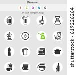 utensils for beverages vector...   Shutterstock .eps vector #619226264
