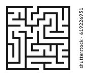 maze game background. labyrinth ... | Shutterstock .eps vector #619226951