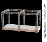 steel truss girder rooftop... | Shutterstock . vector #619227059
