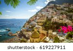 Panorama Of Positano Town ...