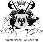 heraldic coat of arms in vector ... | Shutterstock .eps vector #61923628