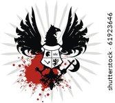 heraldic coat of arms in vector ... | Shutterstock .eps vector #61923646