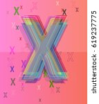 x alphabet pattern idea | Shutterstock .eps vector #619237775