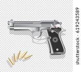 gun vector illustration   Shutterstock .eps vector #619243589