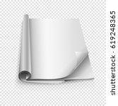 blank book mockups | Shutterstock .eps vector #619248365