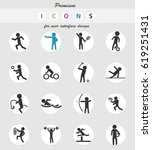 sport vector icons for user... | Shutterstock .eps vector #619251431