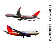 airplane vector illustration | Shutterstock .eps vector #619252571