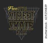 skate sport typography  tee...