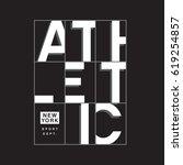 Athletic Sport Typography  Tee...