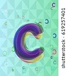 c alphabet idea pattern | Shutterstock .eps vector #619257401