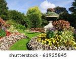 Flowerbeds In A Formal Garden