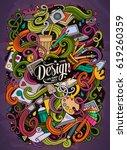 cartoon cute doodles hand drawn ...   Shutterstock .eps vector #619260359