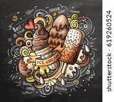 ice cream art cartoon vector...   Shutterstock .eps vector #619260524