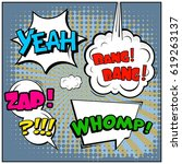 abstract creative concept comic ... | Shutterstock .eps vector #619263137