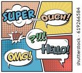 abstract creative concept comic ...   Shutterstock .eps vector #619266584