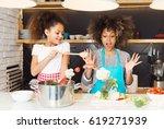 beautiful african american... | Shutterstock . vector #619271939