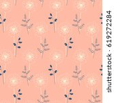 seamless pattern with stylized... | Shutterstock .eps vector #619272284