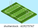 isometric rugby field in vector ... | Shutterstock .eps vector #619275767