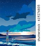 vector image of beautiful... | Shutterstock .eps vector #619276835