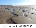 sunshine on whitsand bay beach... | Shutterstock . vector #619280945