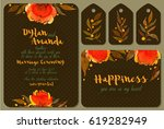 watercolor set of backgrounds... | Shutterstock . vector #619282949
