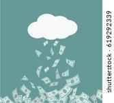 money rain falling from cloud....   Shutterstock .eps vector #619292339