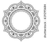 circular pattern in form of... | Shutterstock .eps vector #619295684